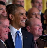 Obama praises hero NYPD cop and girlfriend during White House ceremony
